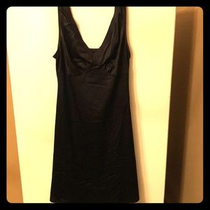 Vanity Fair Black Nylon/Spandex Nightgown Slip